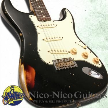 Fender Custom Shop 2013 MBS '61 Stratocaster Relic Master Built by Jason Smith (Black/Sunburst)