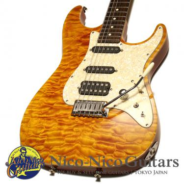 Tom Anderson 2007 Hollow Drop Top Classic QMT (Fire with Binding)