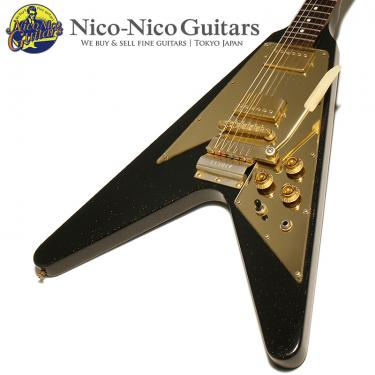 Gibson Custom Shop 2002 Lenny Kravitz 1967 Flying V (Black Sparkle)
