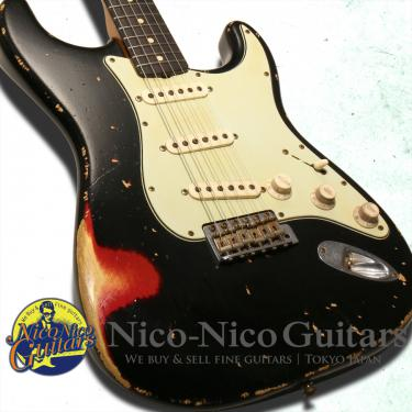 Fender Custop Shop 2008 Masterbuilt '60 Stratocaster Heavy Relic by Jason Smith (Black/Candy Apple Red)