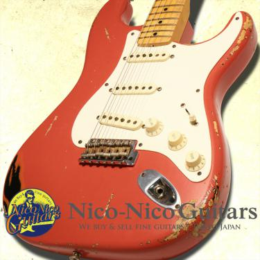 Fender Custom Shop 2009 Masterbuilt '56 Stratocaster Heavy Relic by Dennis Galuszka (Fiesta Red Over Black)