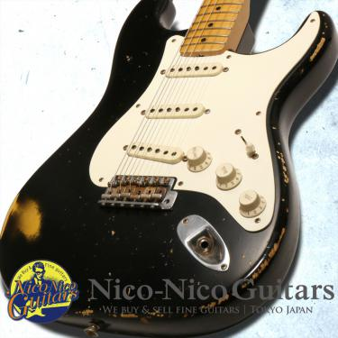 Fender Custom Shop 2008 MBS 1957 Stratocaster Heavy Relic Master Built by Greg Fessler (Black/Sunburst)