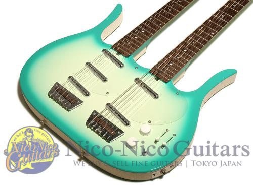 Jerry Jones Longhorn Doubleneck Regular & Baritone (Green Burst)