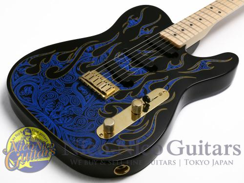 Fender 1994 James Burton Telecaster (Blue Paisley Flames)