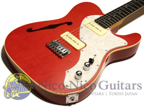 PGM Telecaster Thinline Type P-90 (Trans Red)