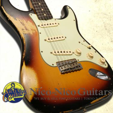 Fender Custom Shop 2014 Dealer Select '61 Stratocaster Heavy Relic Wildwood 10 (Sunburst)