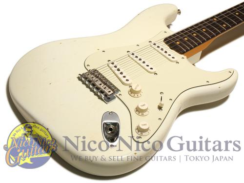 Fender Custom Shop 2017 '59 Stratocaster Journeyman Relic w/Active Booster (Olympic White)