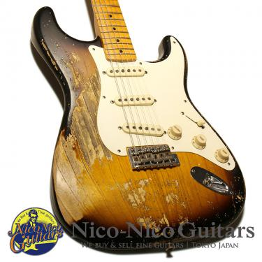 Fender Custom Shop 2018 MBS 1957 Stratocaster Heavy Relic Master Built by Greg Fessler (Sunburst)