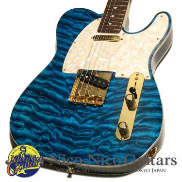 Fender Custom Shop 2013 MBS Telecaster NOS Quilt Maple 2 Piece Body Master Built by Yuriy Shishkov (Transparent Blue)