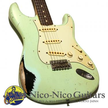 Fender Custom Shop 2017 MBS 1962 Stratocaster Heavy Relic Master Built by John Cruz (Faded Surf Green/Black)