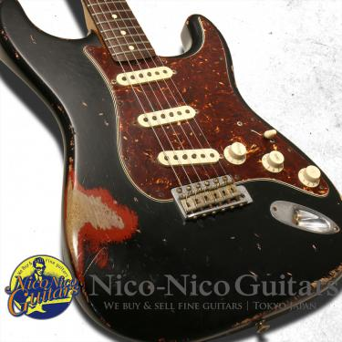 Fender Custom Shop 2007 MBS 1962 Stratocaster Heavy Relic Master Built by Jason Smith (Black/Seminole Red)