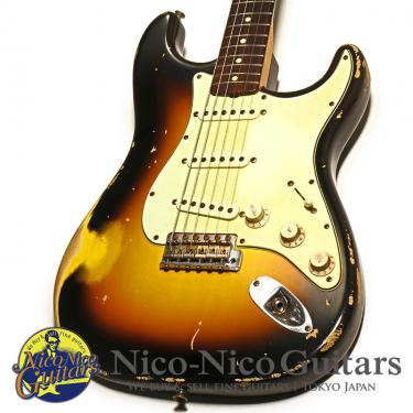 Fender Custom Shop 2008 MBS 1959 Stratocaster Heavy Relic Master Built by Jason Smith (Sunburst)
