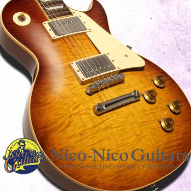 Gibson Custom Shop 2015 Historic Select 1958 Les Paul Figured Vintage Gloss Hand Selected (Slow Iced Tea Fade)