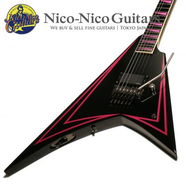 ESP Alexi Laiho Pink Sawtooth (Black with Pink Pin Stripe)